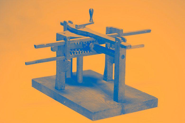 Modell 3: Polhems mekaniska alfabet